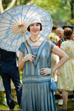 new york governors island jazz age party woman in blue