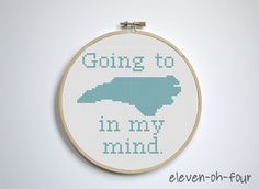 Adorable! Going to Carolina In My Mind Cross Stitch Pattern