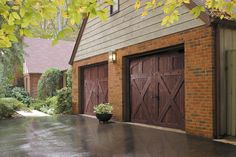 Amarr Biltmore™ for Your Home Collection: R.H. Hunt wood carriage house style garage door. Visit www.amarr.com for more great styles.