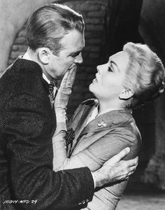 "James Stewart and Kim Novak in ""Vertigo"" by Alfred Hitchcock"