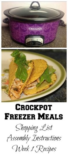Crockpot Freezer Meals - Week 1