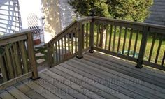 wood deck railing designs | ... construction techniques and ideas for assembling basic wood rails