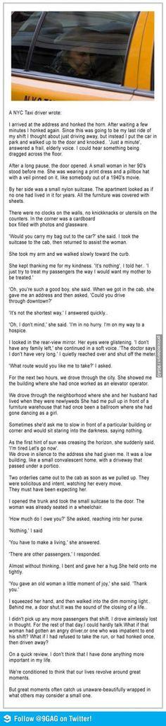 An inspirational story.
