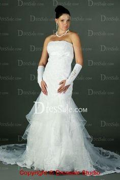 Dreamlike Multiple Ruche Strapless Wedding Attire