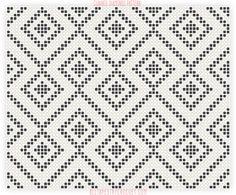 Chained Diamonds Pattern - Free Tapestry Crochet Pattern from AllTapestryCrochet.com