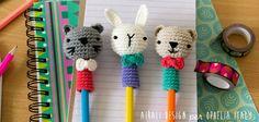 Un idea carina e divertente per decorare e personalizzare le vostre matite.. By Ialria Caliri