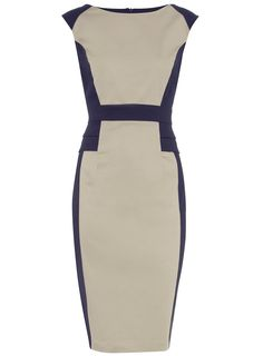 Cream and Black Colorblock Dress...looks like something J.LO would wear. Love it for work!