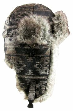 6ce330fb934 Amazon.com  Dakota Dan Nassak Trooper Ear Flap Winter Hat with Faux Fur  Black