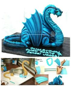 Dragon cakes Cakes Cupcakes Cake Pops Pinterest Dragon