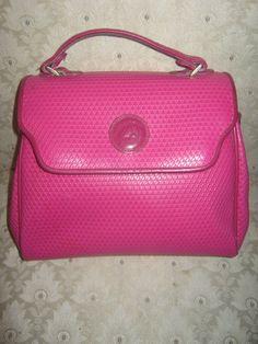 Vintage Liz Claiborne Hot Pink Handbag Shoulderbag Colorful Purse Summer  Wear Retro Stylish  Reserved for Nan 50b5e94fca825