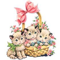 Free Vintage Kitty Cat Clip Art