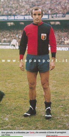Mario Corso  Dall'album 1973-74 Calciatori Panini e La Gazzetta dello Sport ... ⚽️ C'ero anch'io... http://www.tepasport.it/   Made in Italy dal 1952