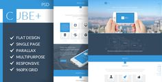 Cube+ | Multi-Purpose Parallax PSD Landing Page . Cube+ has features such as High Resolution: Yes, Layered: Yes, Minimum Adobe CS Version: CS2