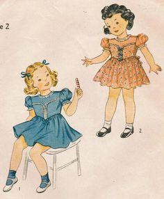 1940s Simplicity 4194 Vintage Sewing Pattern by midvalecottage