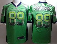 Nike Seattle Seahawks 89 Doug Baldwin Green Drift Fashion Elite NFL Jerseys