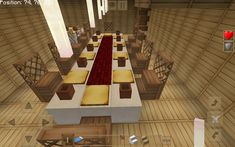 minecraft dining table kitchen fancy modern colorful survival houses