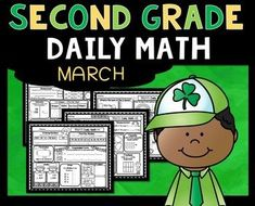 March Daily Math (Second Grade) - Use for morning, homework or independent work. 2nd Grade Teacher, 2nd Grade Classroom, 2nd Grade Math, Second Grade, Grade 2, Daily Math, Math 2, Math Literacy, Fun Math