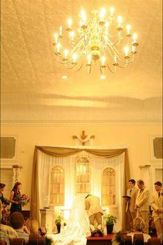 Fall wedding church