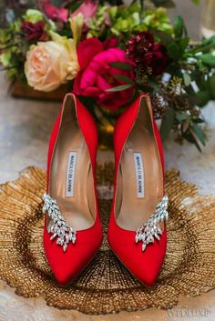 ... red shoes manolo blahnik