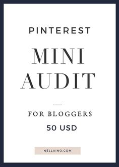 Pinterest review and audit by Pinterest expert Nellaino. Step-by-step guide how to start gaining more traffic and readers from Pinterest to your blog. Send email to get more info hello(at)nellaino.com. This is limited time offer! Only 10 spots available! Be quick and reserve yours! www.nellaino.com/blog