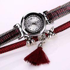 DUOYA Fashion Serpentine Pattern Strap Ladies Bracelet Watch Casual Women watch