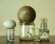 """[Oddball collection]  --Artodyssey: Jeffrey T. Larson Really appreciate not only the composition, but the seeming incongruity of the objects themselves; they don't """"go together"""", in the usual sense of the word. Lovely!"""