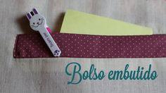 Um tutorial completinho sobre o bolso embutido, perfeito para roupas ou bolsas. Coloque em HD e aperte o play =) O post do blog com fotos e o link para baixa...