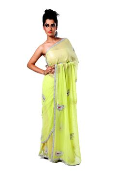 Ranas Woman Faux Georgette Light Green Saree