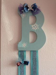 Disney frozen Elsa inspired bow holder, custom.