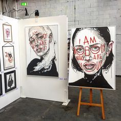 My paintings at the Stroke Art Fair in Munich last week.