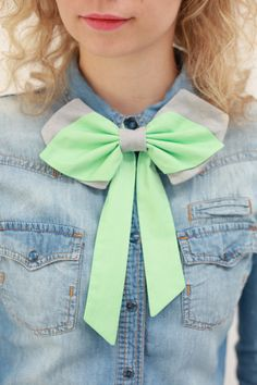 Womens Bow Tie from PollyMcGeary on Etsy