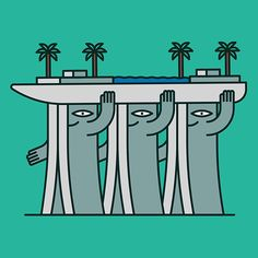 michael william lester animates architectural landmarks with quirky personalities  www.designboom.com