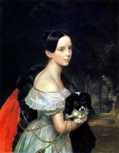 Portrait d'U.M. Smirnova - 1840 - Karl Bryullov
