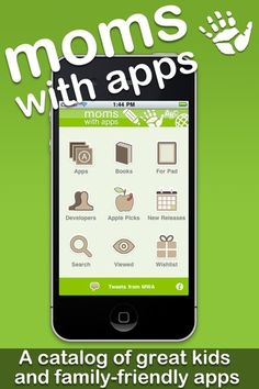 Moms with Apps is a catalog of children's and family-friendly apps. apps-for-moms-and-dads