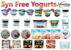Syn free yoghurts astuce recette minceur girl world world recipes world snacks Slimming World Syns List, Slimming World Syn Values, Slimming World Desserts, Slimming World Recipes Syn Free, Slimming World Breakfast Ideas Quick, Slimming Eats, Syn Free Snacks, Syn Free Food, Syn Free Yogurts