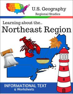 This Regions of the U.S. Geography resource is centered on the Northeast Region and contains textbook style informational text and related student worksheets with answer keys. Students will enjoy learning about this region studying the categories of Land and Water, Climate, Products and Natural Resources, Landmarks, Culture and Food.