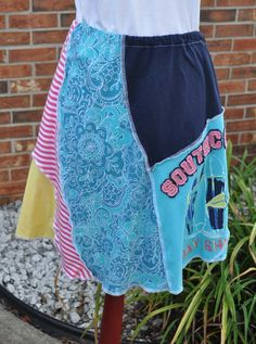 Back to School Clearance! Repurposed Clothing T-shirt Skirt Upcycled Clothes…