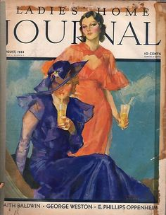 John LaGatta (1894-1977) - The Ladies' Journal Magazine cover August 1933