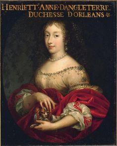 Henriette-Anne d'Angleterre, duchesse d'Orléans (épouse en 1661 de Philippe de France, duc d'Orléans) (1644-1670), atelier des frères Beaubrun