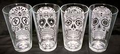 Sugar Skull Glasses