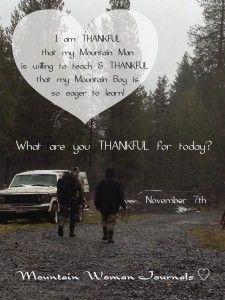 Mountain Woman Journals 30 Days of Thankfulness - Day 7 | TrayerWilderness.com