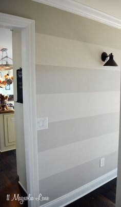 Tutorial: How to Paint Horizontal Stripes On A Wall | 11 Magnolia Lane