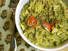 Oil-Free Vegan Pesto... Few ingredients, few nuts, and a bonus to your veggie intake... A must try! 1 cup diced zucchini 1 handful fresh basil leaves (about 3/4 oz.) 4 garlic cloves (I'm not a huge fan of garlic so I use 2 cloves) ½ cup raw walnuts 1/4 cup water 2 Tablespoons fresh lemon juice 1/2 teaspoon sea salt, or to taste