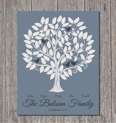 Family Tree Artwork Personalized  8x10  Custom by MadeForKeepsShop, $24.00