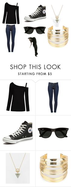 """Assassin-Lecture"" by lilac-halo ❤ liked on Polyvore featuring Frame, Converse, Ray-Ban, ASOS, WithChic and GABALNARA"