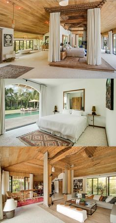 The Most Beautiful Airbnbs in Canggu, Bali For Every Budget - Live Like It's the Weekend Rustic Home Design, Dream Home Design, Bali Style Home, Bohemian Chic Home, Tropical House Design, Bali House, Hotel Room Design, Bamboo House, Canggu Bali