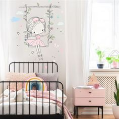 Nálepky na stenu - hviezdičky a oblaky | INSPIO Girls, Infant Room, Quartos, Furniture, Paintings, Bedroom, Living Room, Gifts For Girls, Fairies