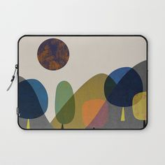 Mountains and trees2 Laptop Sleeve by flatowl | Society6