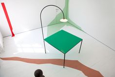 Quirky & unexpected interior pieces by Muller Van Severen | Furniture design; joinery; interior design; interior decor; lighting design; obscure; teal table | MINTY WARES | via mullervanseveren.be