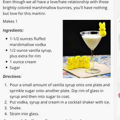 Marshmallow Peep Martini Easter martinis Pinterest Martinis
